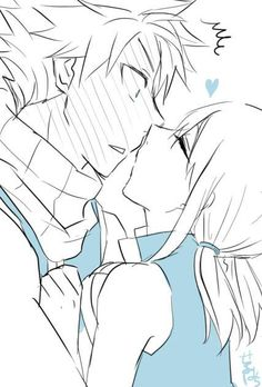 Fairy Tail - Natsu and Lucy Fairy Tail Levy, Fairy Tail Gruvia, Fairy Tail Natsu And Lucy, Fairy Tail Art, Fairy Tail Ships, Fairy Tail Anime, Fairy Tales, Nalu, Jerza