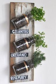 Wood, Chalkboards, Plants = Great Indoor Garden