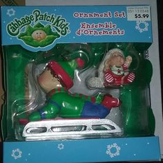Cabbage patch ice skater ornament american greeting 2005 vintage cabbage patch kids american greetings christmas tree ornament new in box m4hsunfo