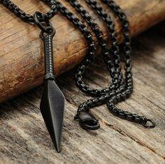 The matte black Kunai pendant // available now // $50 // vitalydesign.com #vitaly #fashion #pendant