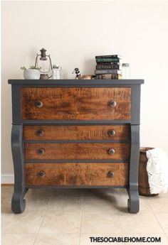 Painted furniture designs - 50 Incredible Two Tone Furniture Painting Design Ideas – Painted furniture designs Two Tone Furniture, Grey Bedroom Furniture, Paint Furniture, Cheap Furniture, Furniture Makeover, Furniture Design, Furniture Stores, Furniture Ideas, Furniture Movers