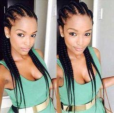 Ghana Braids Cornrows Hairstyle for Black Women