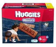 Huggies Little Movers Jean Diapers, Size 4, 60-Count - http://www.intomars.com/huggies-little-movers-jean-diapers-size-4.html