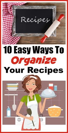 Technology has changed almost every aspect of life, including how we work in the kitchen.This allows you access to more kinds of recipes, but how do you organize recipes from multiple sources? Luckily, there are many different ways to organize your recipes! Check out these 10 Easy Ways to Organize Your Recipes to find a method that will work for you! | home organization, recipe organization, organization tips, organize your life, kitchen organization