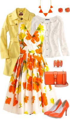 """Orange You Glad"" by lewick ❤ liked on Polyvore"