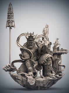 Korean Art, Asian Art, Oriental, Art Chinois, Buddha Art, Cg Art, Sculpture Clay, Chinese Art, Japanese Art