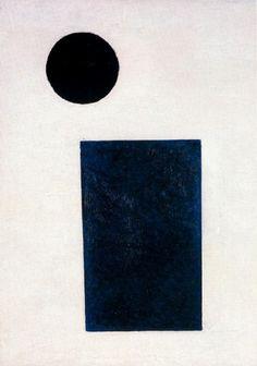 Kazimir Malevich - Rectangle and Circle, 1915