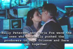 Grissom and Sara. This is awesome to know! ❤️❤️❤️