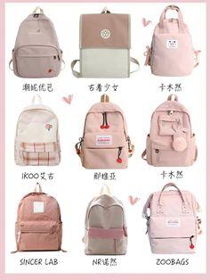 Stylish School Bags, Cute School Bags, Cute Backpacks, Girl Backpacks, Pastel Backpack, Aesthetic Backpack, Kawaii Bags, Large Diaper Bags, Girls Bags