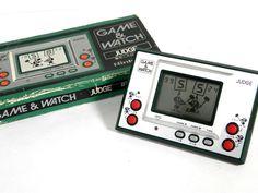 Nintendo Game & Watch Silver Series Judge IP-05 Green Boxed MIJ Great Condition #Nintendo