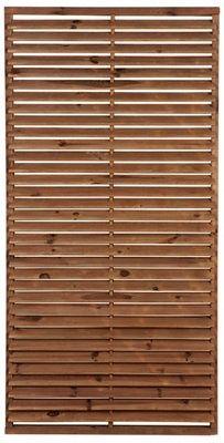 Celosía Fija De Madera Marrón 90 X 180 Cm Leroy Merlin Paneles De Madera De Madera Celosía