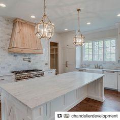 """323 Likes, 10 Comments - Robert Scheffy (@scheffyconstruction) on Instagram: """"#Repost @chandelierdevelopment   Up close kitchen details...custom inset cabinets, marble…"""""""