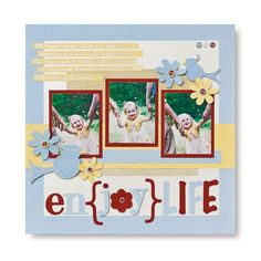 Enjoy Life This and That #Cricut #Scrapbooking Layout Idea from Creative Memories    http://www.creativememories.com
