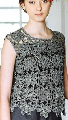 Square Floral Motif Top Crochet Pattern. More Patterns Like This!