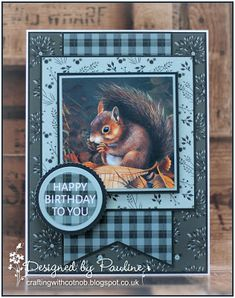 Crafting with Cotnob: Pollyanna Pickering British Wildlife Vol III Birthday Cards For Men, Happy Birthday, Create And Craft Tv, Scrapbook Examples, Exploding Box Card, British Wildlife, Red Squirrel, Animal Cards, Masculine Cards