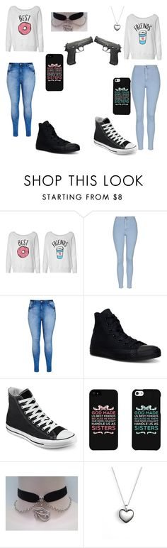 """""""The twisted twins"""" by music-and-animelover ❤ liked on Polyvore featuring moda, Topshop, City Chic, Converse, Pandora, women's clothing, women, female, woman y misses"""