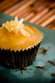 The crystallized ginger on top of these cupcakes was a last minute addition. However, it rounded out the flavor of these ginger pear cupcakes with miso car...