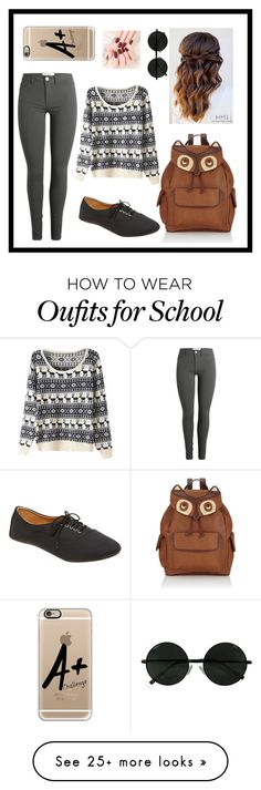 """#BackToSchool"" by liacarolina02 on Polyvore featuring Accessorize, Wet Seal and Casetify"