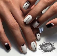 Simple yet chic nail art