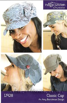 Classic Cap sewing pattern.  I will make a few of these SOON.  Now that my hair is getting long again I need to build my hat collection back up!  ^_^
