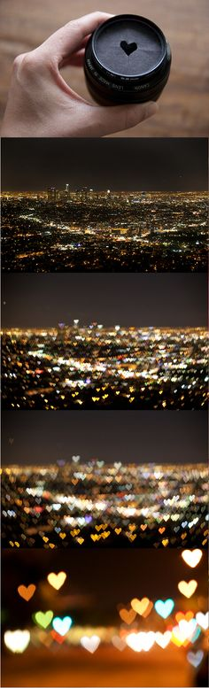 DIY Heart-Shaped Bokeh (Light Blur Photography) Tutorial OMG Im so going to try this