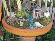 Mini garden.  Buy the kit or make the pieces from scraps and whatnots.