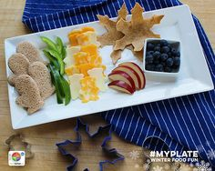 Try using cookie cutters to add a fun, seasonal theme to healthy choices.