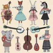 Amazing Animal Alphabet Band - Girl - andrea_lauren - Spoonflower