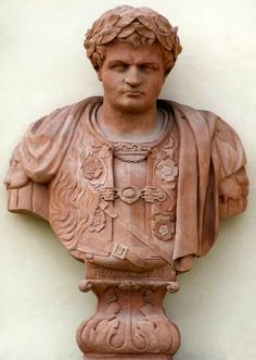 Bust of Tiberius on the garden facade of the Wilanów Palace by Bartholomeus Eggers, 1680s, commissioned by John III Sobieski