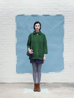 """ymc fall 2012 (via """"calivintage"""") - love the colours British Fashion Brands, Grey Tights, Project Runway, Colourful Outfits, Photoshoot Inspiration, Passion For Fashion, Fall Outfits, Winter Fashion, Fashion Photography"""