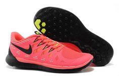 Nike Free 5.0 Running Shoes Mens Pink Black