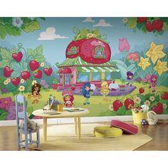 Strawberry Shortcake XL Wallpaper Mural 15' x 9'   RoomMates Wall Decals