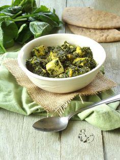 saag paneer - leave out the tofu. 150 calories per serving - 4 servings