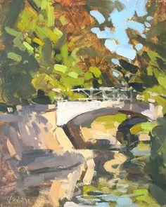 Valérie Pirlot Art - Cold and sunny, Sydney Gardens, Bath - oil Sydney Gardens, Landscape Paintings, Oil Paintings, Bath, Vibrant, Fine Art, Artist, Outdoor, Fresh