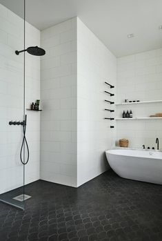 black shower inspiration bycocoon com rainshower black rain shower designer bathroom luxury bathroom luxury bathrooms luxury bathroom design black bath room fittings black bathroom fix - The world's most private search engine Minimalist Showers, Minimalist Home, Minimalist Interior, Minimalist Bedroom, Bathroom Floor Tiles, Modern Bathroom, Bathroom Black, Minimal Bathroom, Shower Tiles