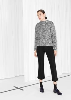 Flared Crop Trousers | Black | & Other Stories
