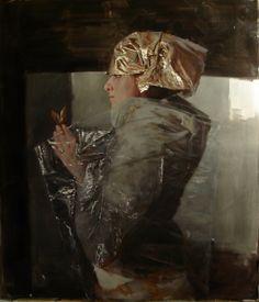 Teodora Axente, In Secrecy, 2013, oil on canvas, 29 x 25 in (74 x 63 cm)