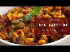 Corn Capsicum masala for chapathi Sweetcorn Fritters Recipe, Sweetcorn Bake, Easy Corn Fritters, Hot Dog Recipes, Corn Recipes, Healthy Potatoes, Hot Cocoa Recipe, Salad Ingredients, Sweet Corn