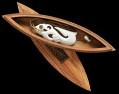 """Wooden Wakahuia """"Treasure box"""" ideal for necklaces,  carvings and other special treasures. Bone Art Place. - Maori Wood Carvings.   www.boneart.co.nz"""