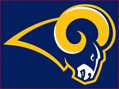 Delifhted Mens Los Angeles Rams 2016 Football LA Rams St Louis Rams Logo Cotton T Shirt