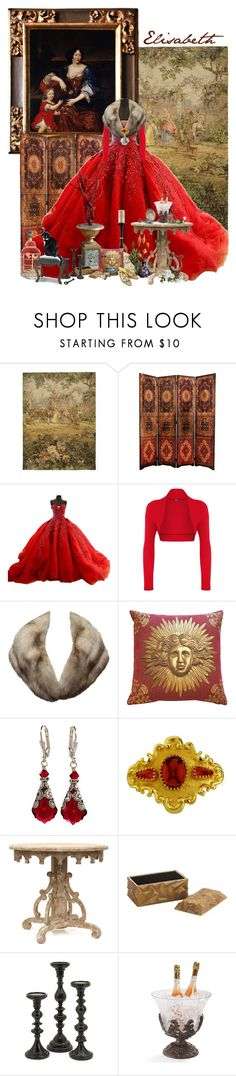 Élisabeth Marguerite d'Orléans (1646-1696) by sh0shan on Polyvore featuring WearAll, Manolo Blahnik, Christian Lacroix, Adorabella, Pillow Decor, Frontgate, Dot & Bo and Arteriors