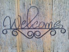 Welcome sign rustic wall decor wrought iron by metalkraftdecor
