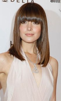 Love the cut and full bangs!