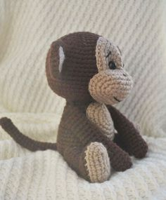 Meet a playful naughty monkey Bobo! Crochet your own little monkey with the help of our step-by-step Naughty Monkey Amigurumi Pattern! Crochet Monkey Pattern, Crochet Amigurumi Free Patterns, Crochet Dolls, Free Crochet, Crochet 101, Crochet Stitch, Double Crochet, Free Monkey, Crochet Baby Mobiles