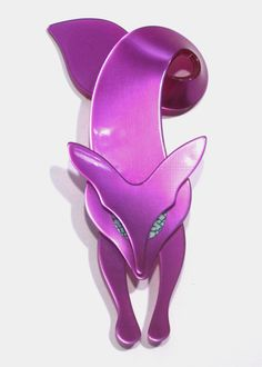 Pink Fox Pin by Lea Stein