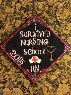 Nursing school graduation cap decoration