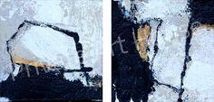 Abstrakt 10.008, 2-teilig. Künstler: Petra Lorch