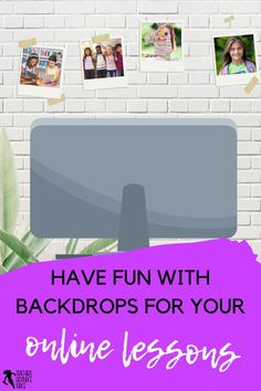 Tired of that blank wall behind you during online calls? Or are you someone who scrambles to tidy up your background before an online call to make sure it looks presentable? Backdrops can actually be a lot of fun and can make your online lessons with your students that extra bit more special too! #distancelearning #remotelearning #onlinelessons #backdropideasforlessons Free Teaching Resources, School Resources, Teacher Resources, Online Lessons, Teacher Blogs, Tidy Up, Classroom Decor, Distance, School Ideas