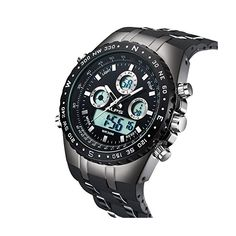 ALPS Mens Sports Watch Daily Water Resistant Fashion Outdoor Analog Digital Display Electronic Military Back Light Multifunction Watch #mens #watches