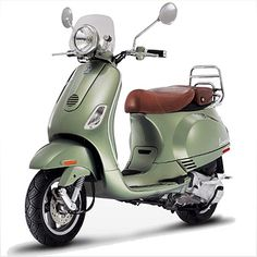Green Vespa Scooter